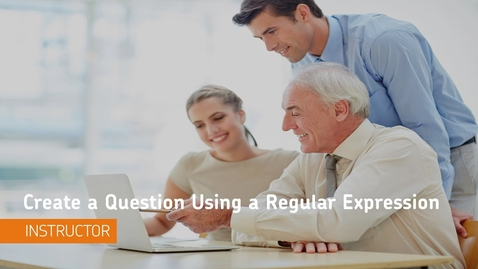 Thumbnail for entry D2L Quizzes - Question Library, Create a Question Using a Regular Expression - Instructor