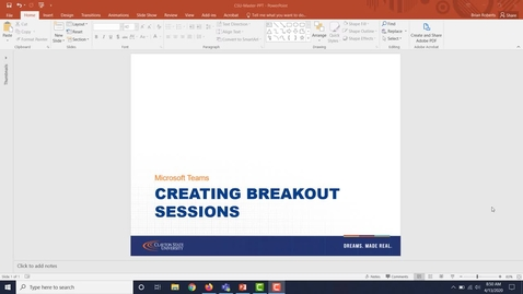 Thumbnail for entry Breakout Meeting Rooms - Teams Meetings