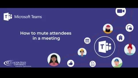 Thumbnail for entry Muting Attendees - Teams Meeting