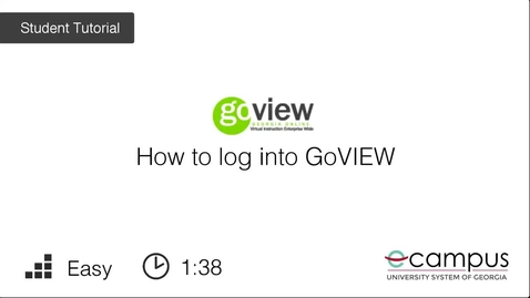 Thumbnail for entry Logging into GoVIEW