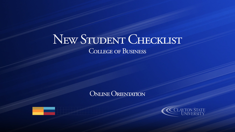 Thumbnail for entry New Student Checklist