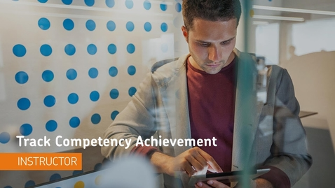 Thumbnail for entry D2L Competencies - Tracking Competency Achievement - Instructor