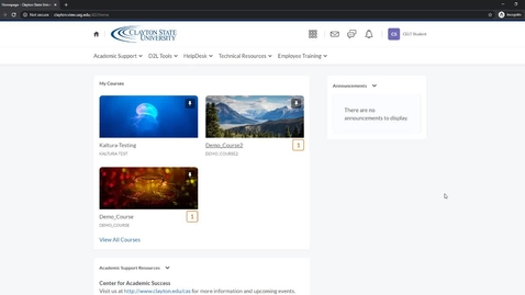 Thumbnail for entry Pinning A Course
