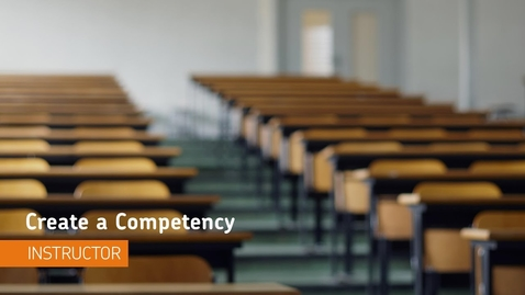 Thumbnail for entry D2L - Competencies - Create a Competency - Instructor