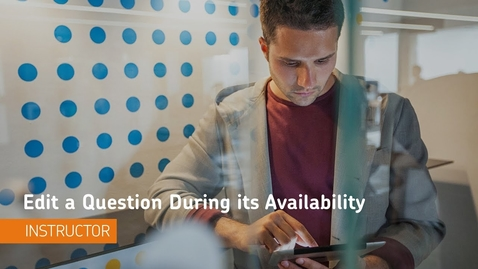 Thumbnail for entry D2L Quizzes - Edit a Question During its Availability - Instructor