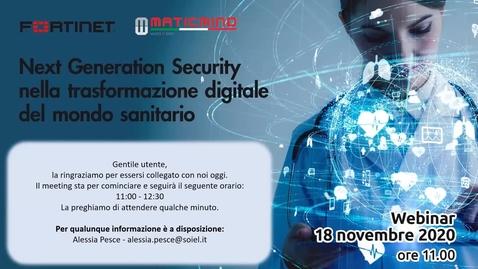 Miniatura per la voce Next Generation Security nella trasformazione digitale del mondo sanitario