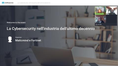 Miniatura per la voce La Cybersecurity nell'industria dell'ultimo decennio