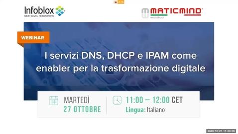 Miniatura per la voce I servizi DNS, DHCP e IPAM come enabler per la trasformazione digitale