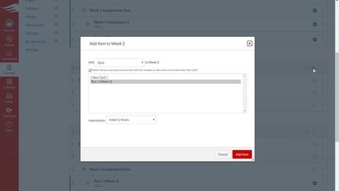 Thumbnail for entry Deploy Assessments on Modules Page
