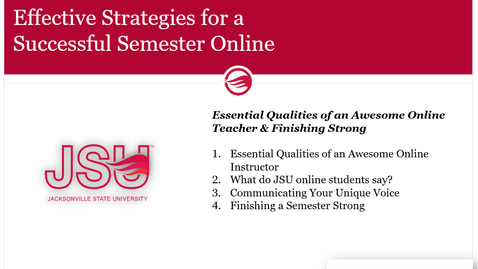 Thumbnail for entry Essential Qualities of an Awesome Online Teacher and Finishing Strong