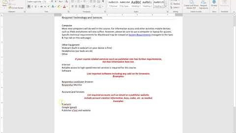Thumbnail for entry Headers, Lists, and Font Color