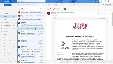 Thumbnail for entry Teams Meeting through Outlook Calendar