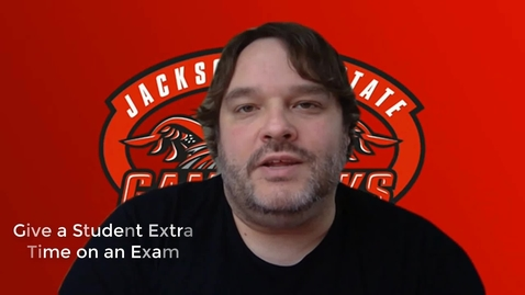 Thumbnail for entry Give a Student Extra Time on a Quiz or Exam