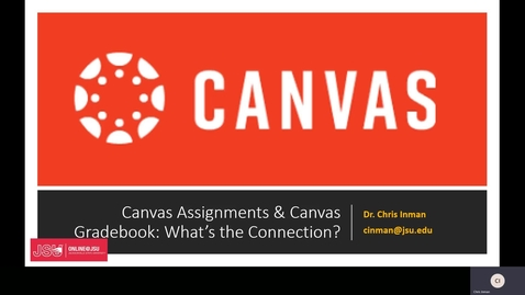 Thumbnail for entry Canvas Assignments Page and Gradebook