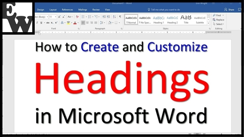 Thumbnail for entry How to Create and Customize Headings in Microsoft Word