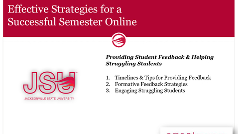 Thumbnail for entry Providing Student Feedback and Helping Struggling Students