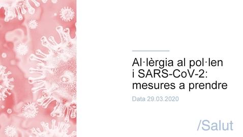 Miniatura para la entrada Al·lèrgia al pol·len i SARS-CoV-2 - mesures a prendre