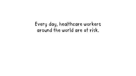 Miniatura para la entrada Los trabajadores de la salud están en riesgo.