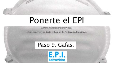Miniatura para la entrada Ponerte el E.P.I. - Paso 09 - Gafas.