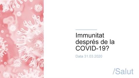 Miniatura para la entrada Immunitat després de la COVID-19