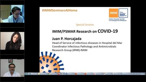Miniatura para la entrada IMIM Seminars at Home   Special Session  IMIM PSMAR Research on COVID 19