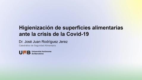 Miniatura para la entrada Higienización de superficies alimentarias ante la COVID-19