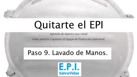 Miniatura para la entrada Quitarte el E.P.I. - Paso 09 - Lavado de Manos.