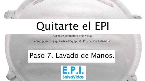 Miniatura para la entrada Quitarte el E.P.I. - Paso 07 - Lavado de Manos.