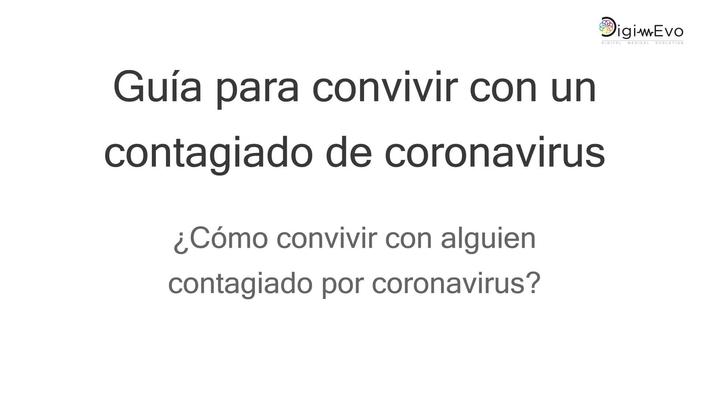 ¿Cómo convivir con alguien contagiado por coronavirus?