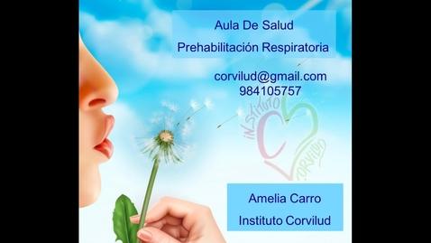 Miniatura para la entrada Aula de Salud: Prehabilitación Respiratoria