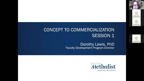 Thumbnail for entry 1- Concept To Commercialization Session One 6.17.20