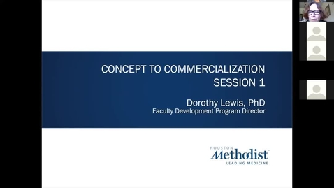 Thumbnail for entry 01- Concept To Commercialization Session One 6.17.20