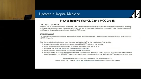 Thumbnail for entry Hospital Medicine  Symposium - 2.29.20