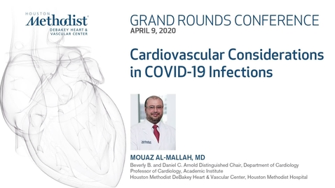Thumbnail for entry Grand Rounds with Mouaz Al-Mallah, MD 04.09.20