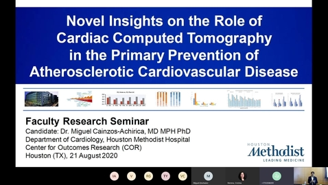 Thumbnail for entry Novel Insights on the Role of Cardiac Computed Tomography in the Primary Prevention of Atherosclerotic Cardiovascular Disease by Miguel Cainzos-Achirica, MD, PhD, MPH (8.21.20)