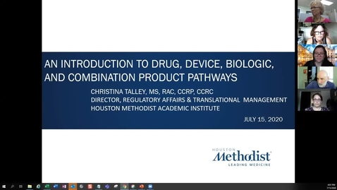 Thumbnail for entry 03- Introduction to Drug, Device, Biologic and Combination Product Pathway 07.15.20
