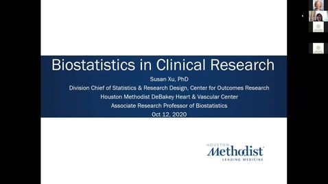 Thumbnail for entry Key Elements in Clinical Research - Course 5: Biostatistics in Clinical Research 10.12.20
