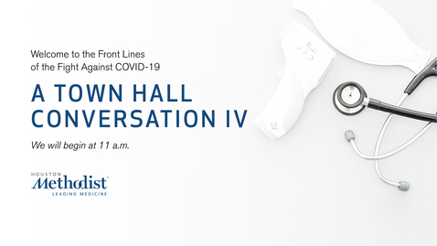 Thumbnail for entry A Town Hall Conversation IV 07.15.20