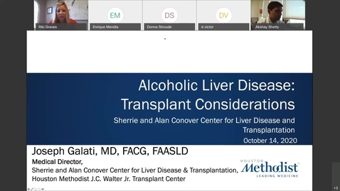 Thumbnail for entry Alcoholic Liver Disease: Transplant Considerations - 10.14.20