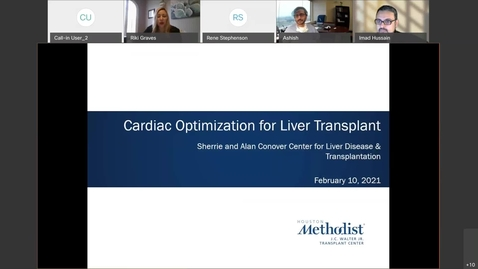 Thumbnail for entry Cardiac Optimization for Liver Transplant 2.10.21