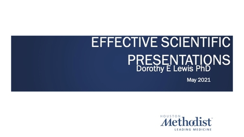 Thumbnail for entry Effective Oral Presentations 05.04.21