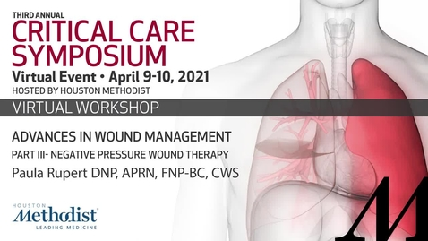 Thumbnail for entry Advances in Wound Management pt 3 - Negative Pressure