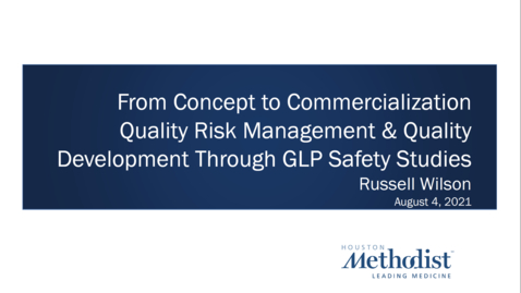 Thumbnail for entry 05- Quality Risk Management & Quality Development Through GLP Safety Studies 08.04.21