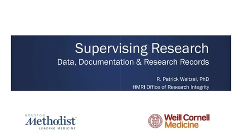 Thumbnail for entry Supervising Research Data Workshop 05.18.21