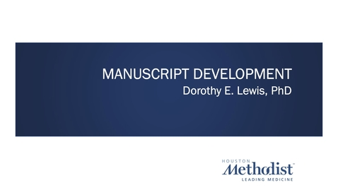 Thumbnail for entry Manuscript Preparation Workshop 2.23.21