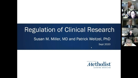 Thumbnail for entry Key Elements of Clinical Research- Course 3: Regulation of Clinical Research 9.28.20