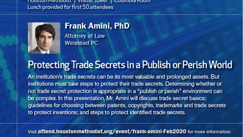 Thumbnail for entry Lunch and Learn Lecture Series with Frank Amini, PhD 2.26.20