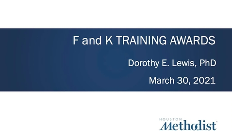 Thumbnail for entry F & K Training Awards 3.30.21