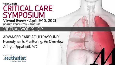 Thumbnail for entry Advanced Cardiac Ultrasound  Hemodynamic monitoring
