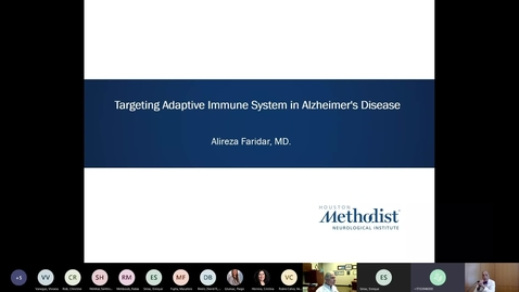 Thumbnail for entry Targeting Adaptive Immune System in Alzheimer's Disease  by Alireza Faridar, MD 10.6.20